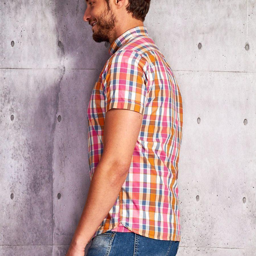 Koszula-P02013-różowy