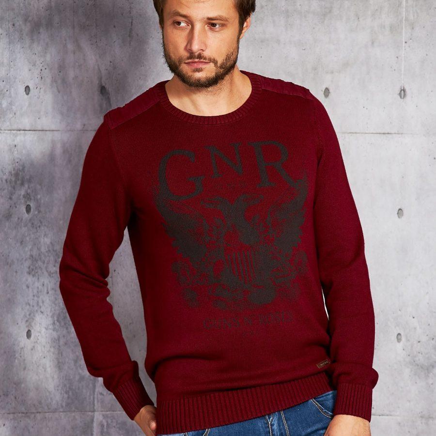 Sweter-20916008-bordowy