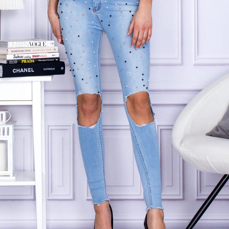 Spodnie jeans-142-SP-3020.08-niebieski