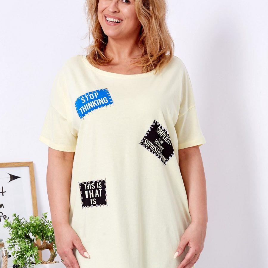 T-shirt-FP-HDM-TS-7014.06-żółty