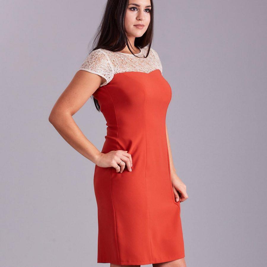 Sukienka-NU-SK-9011.95-pomarańczowy