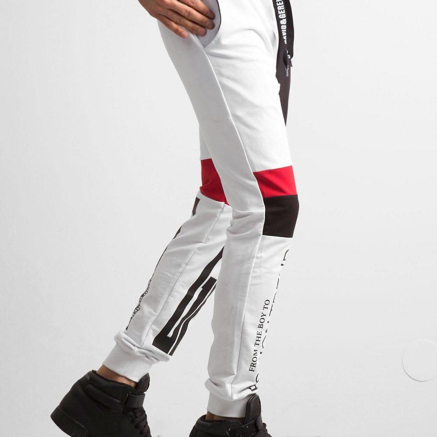 Spodnie dresowe-RT-DR-2-50184.62-biały