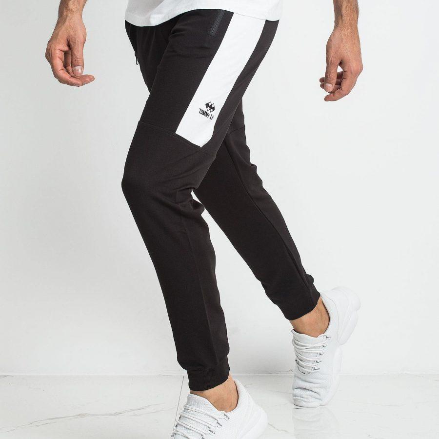 Spodnie dresowe-298-DR-TL-84646.27-czarno-biały