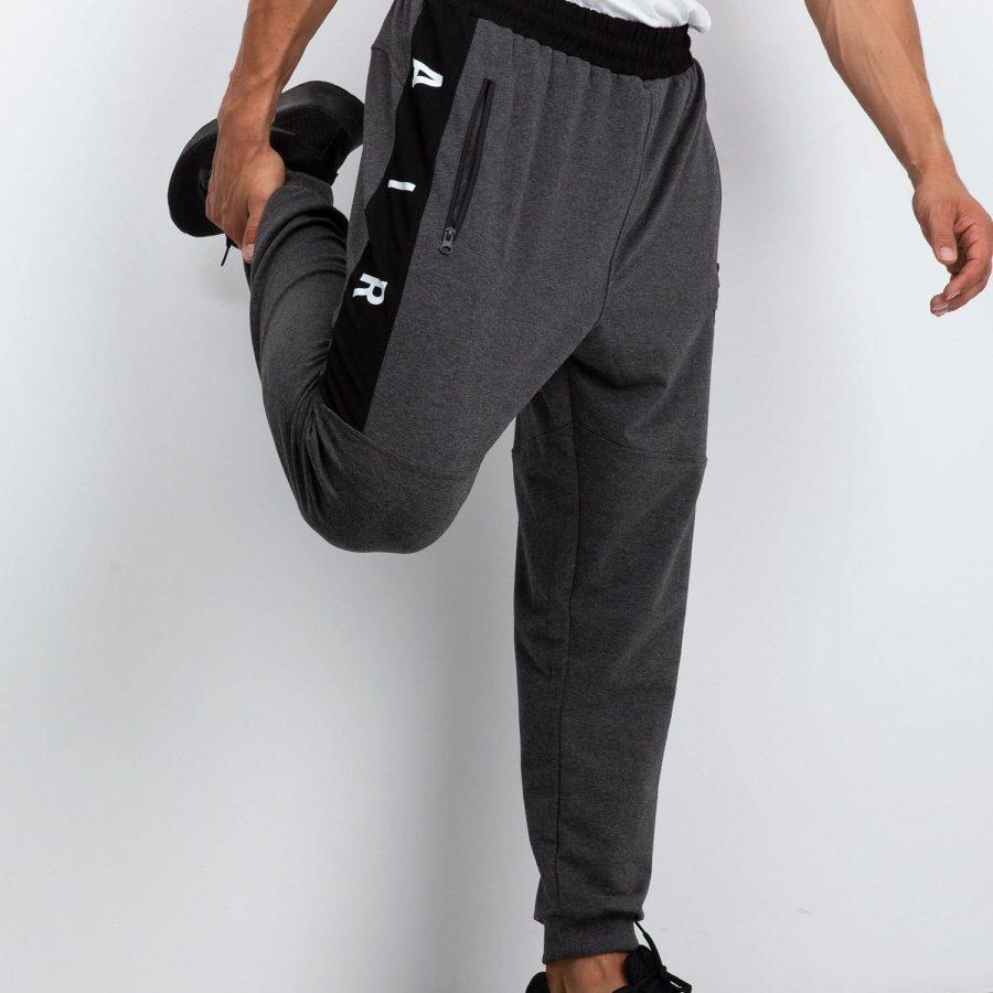 Spodnie dresowe-298-DR-TL-84680.02X-ciemny szary