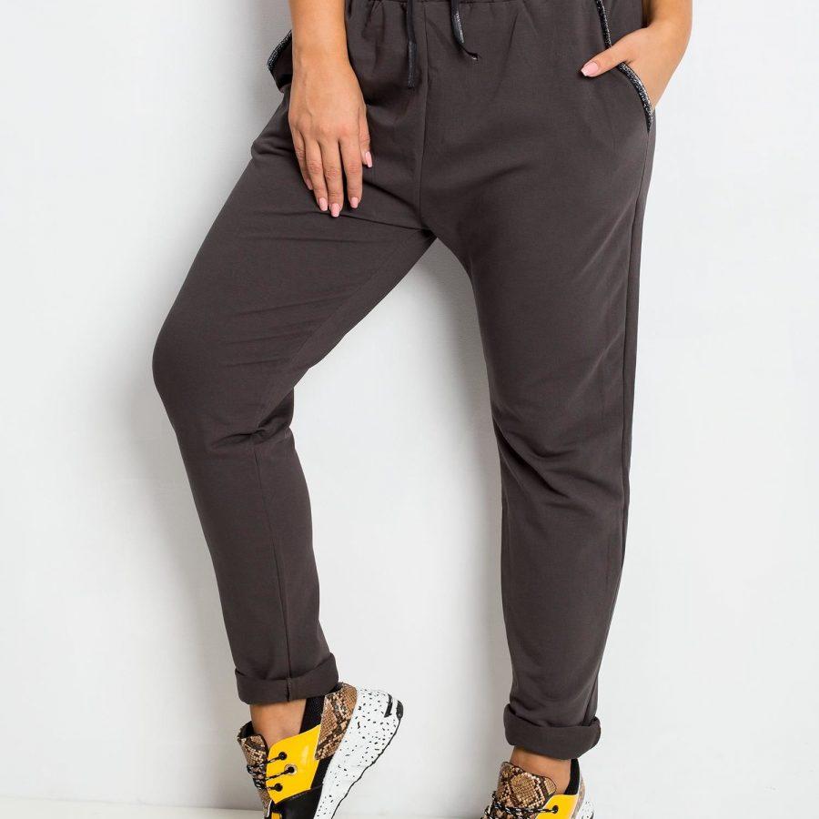 Spodnie dresowe-RV-DR-4765.52-khaki [zul]