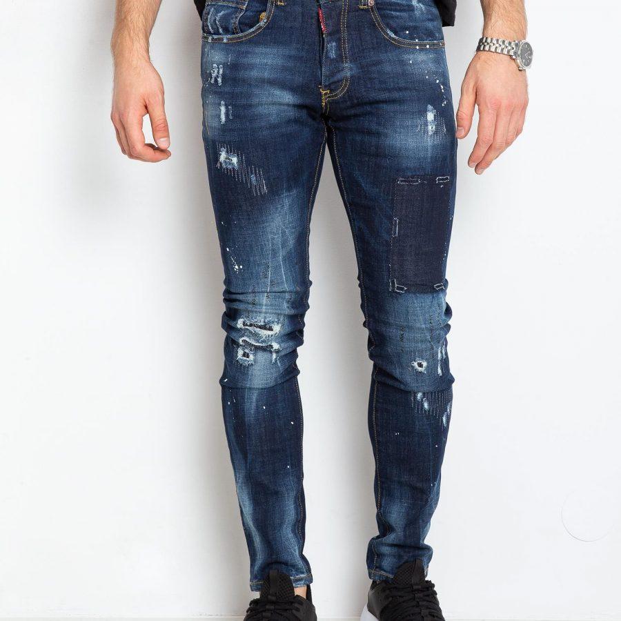 Spodnie jeans-MO-SP-3010.12P-niebieski