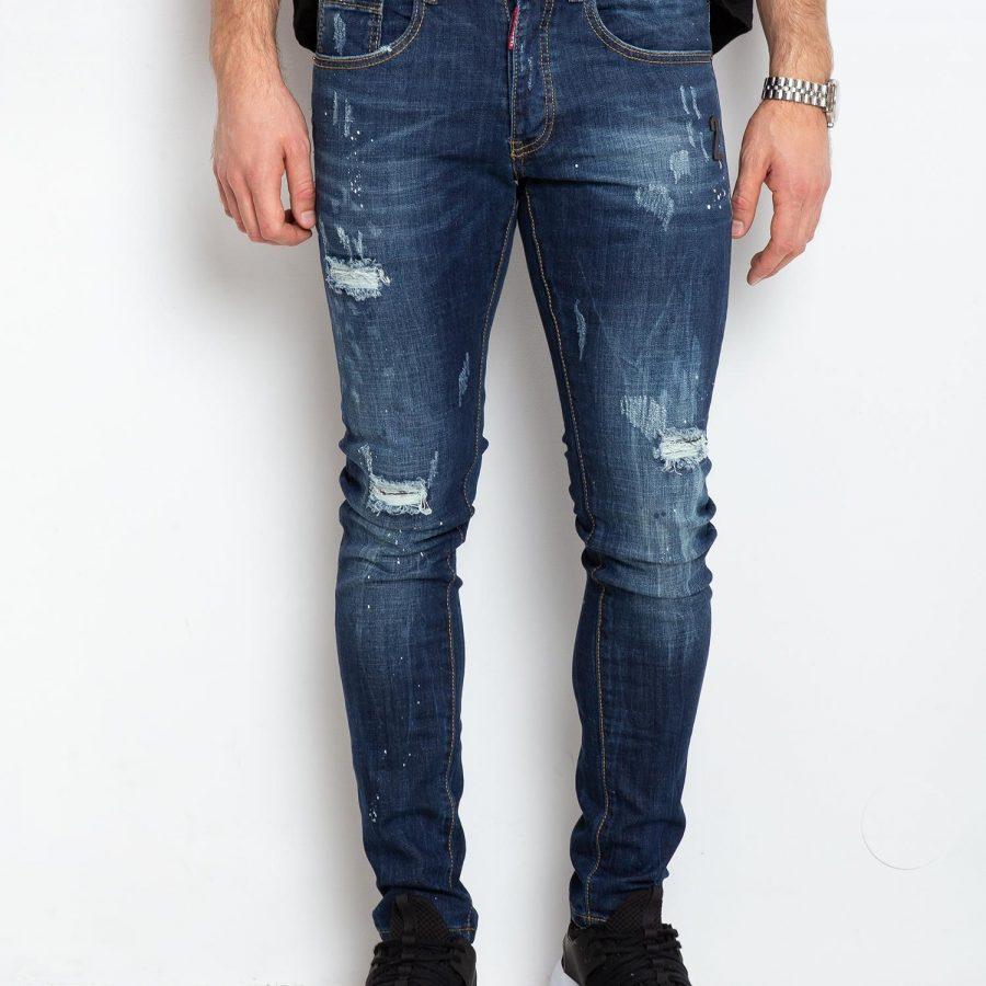 Spodnie jeans-MO-SP-3013.04P-niebieski