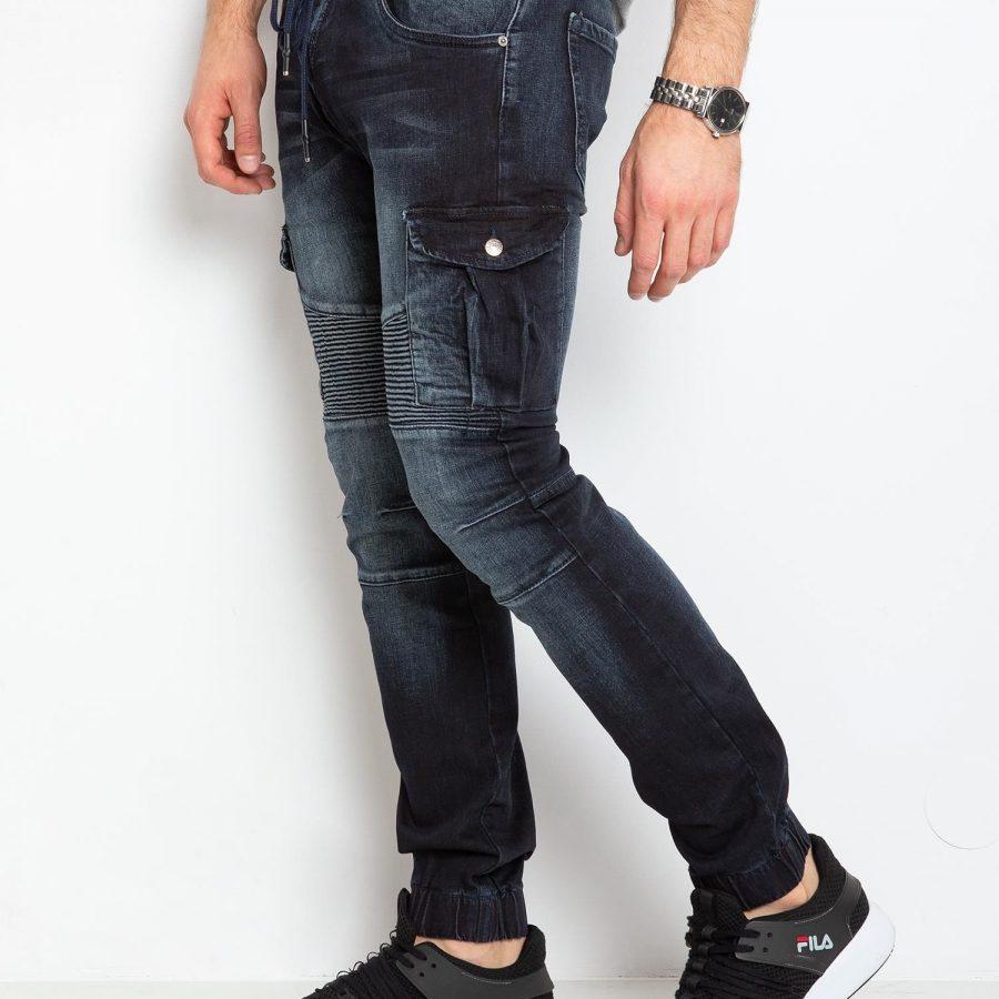 Spodnie jeans-MO-SP-BF6160S.13P-granatowy