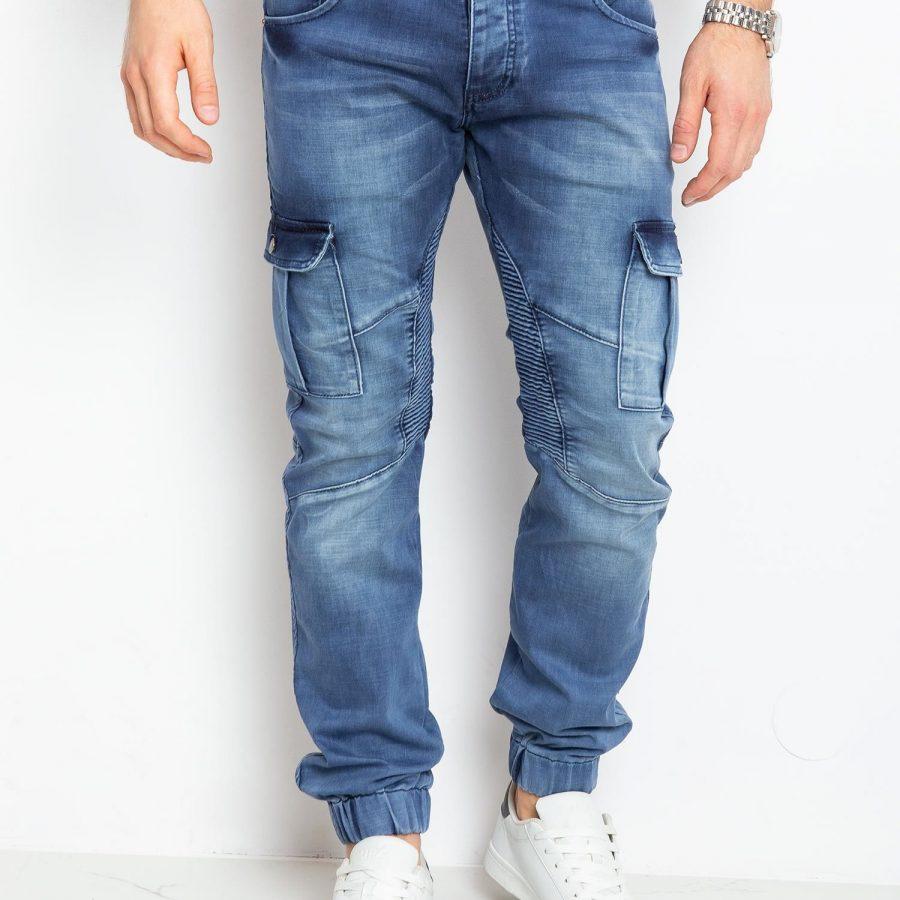 Spodnie jeans-MO-SP-BF6180S.09P-niebieski