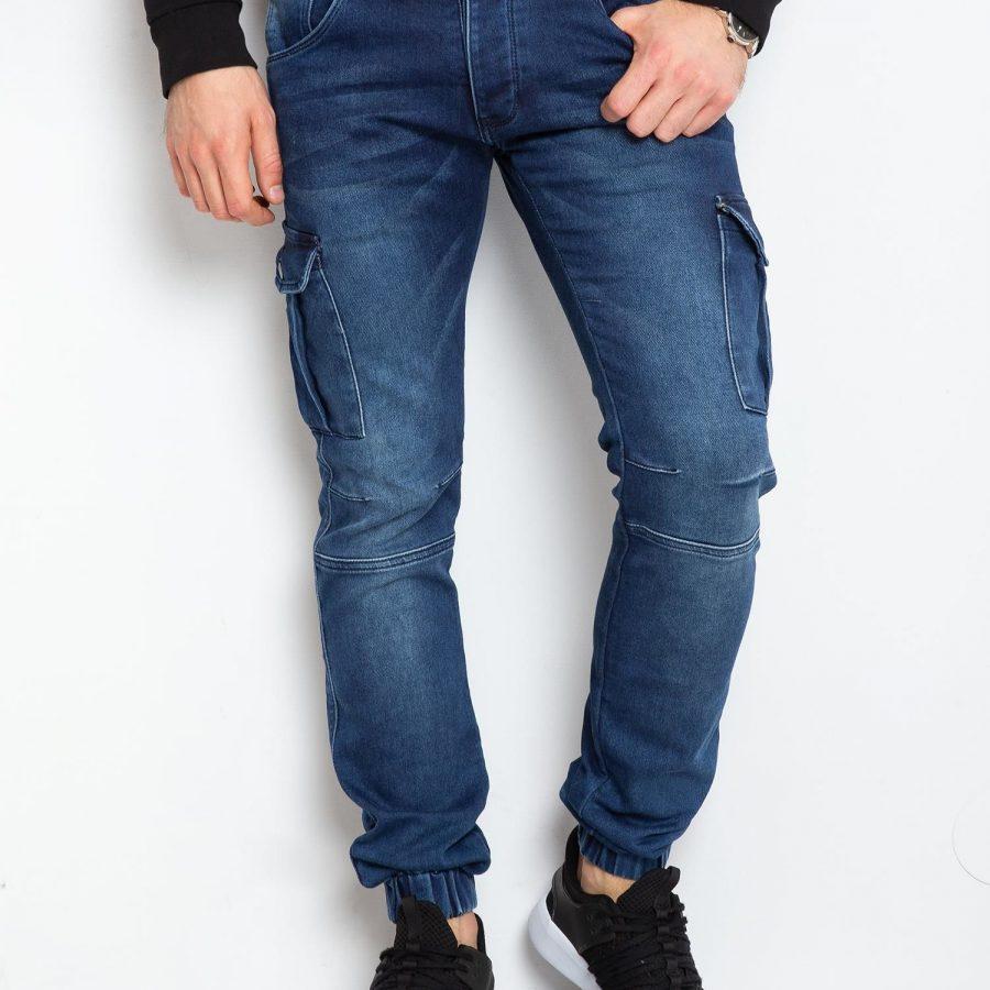 Spodnie jeans-MO-SP-BF6196S.05P-niebieski