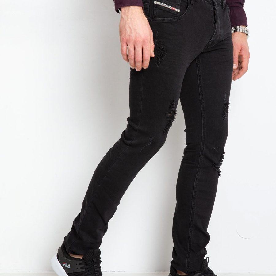 Spodnie jeans-MO-SP-QF5172S.14P-czarny
