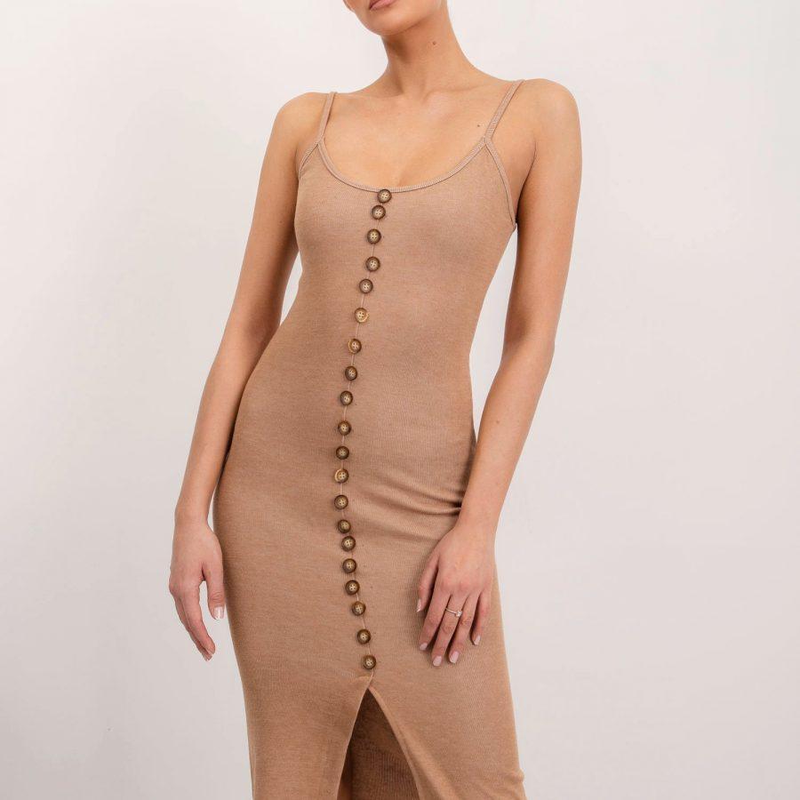 Sukienka-BSL-SK-12639-beżowy