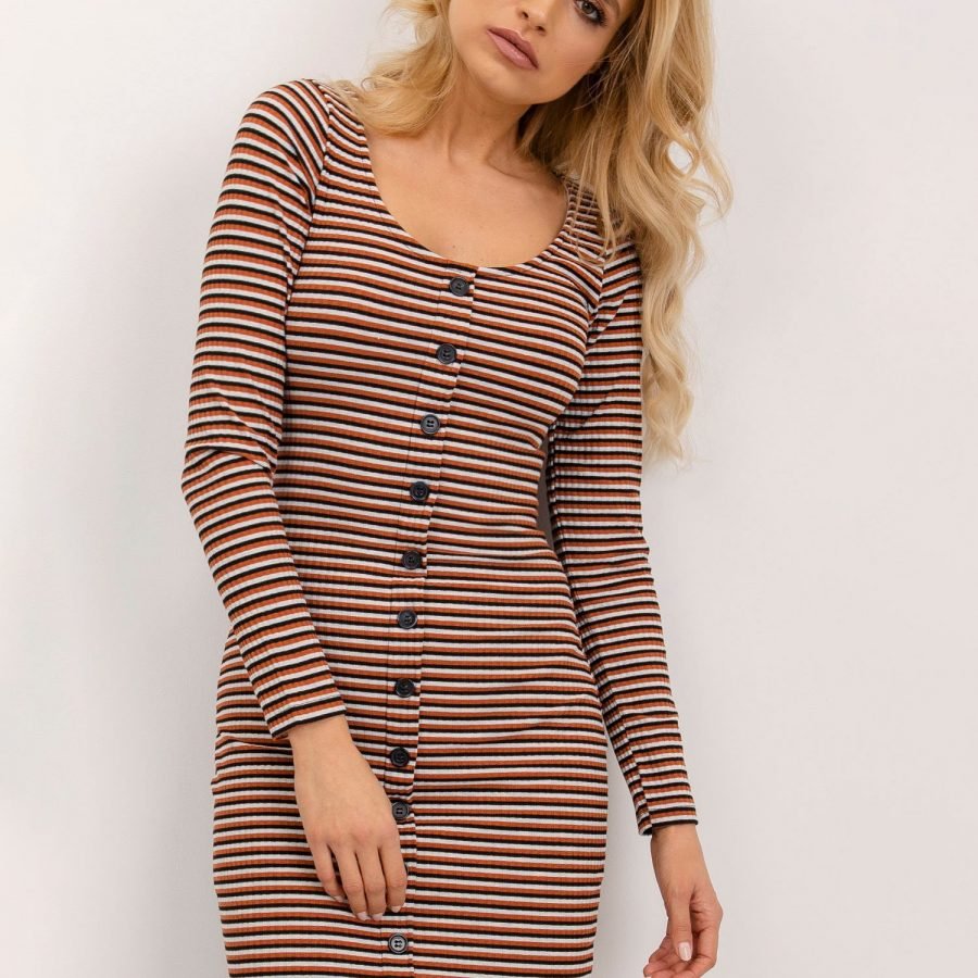 Sukienka-BSL-SK-12907-jasny brązowy