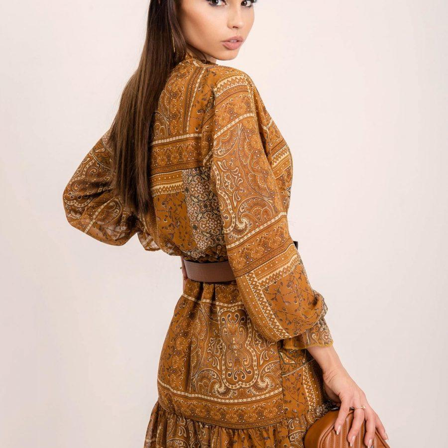 Sukienka-109-SK-1385-1.16P-jasny brązowy