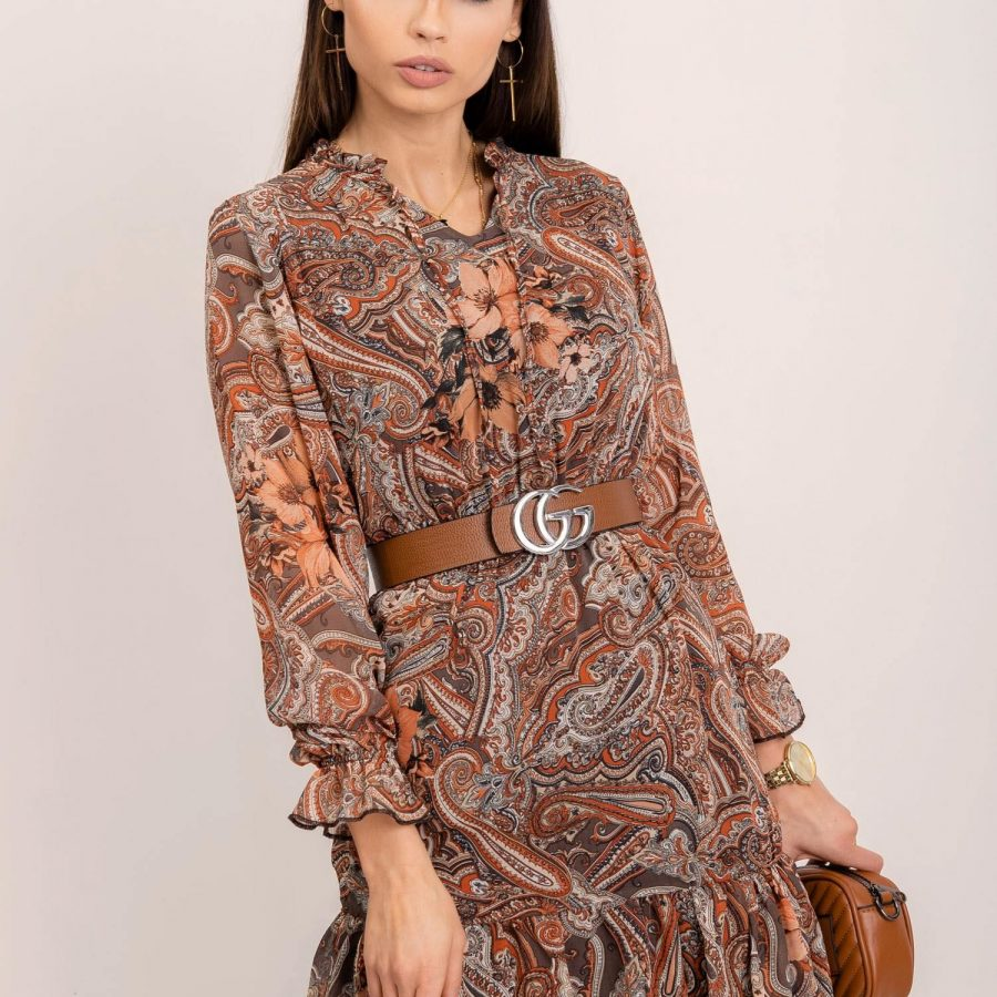 Sukienka-109-SK-1385-4.19P-brązowy