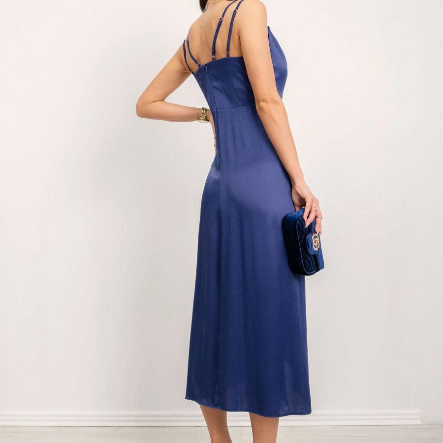 Sukienka-BSL-SK-14151-ciemny niebieski