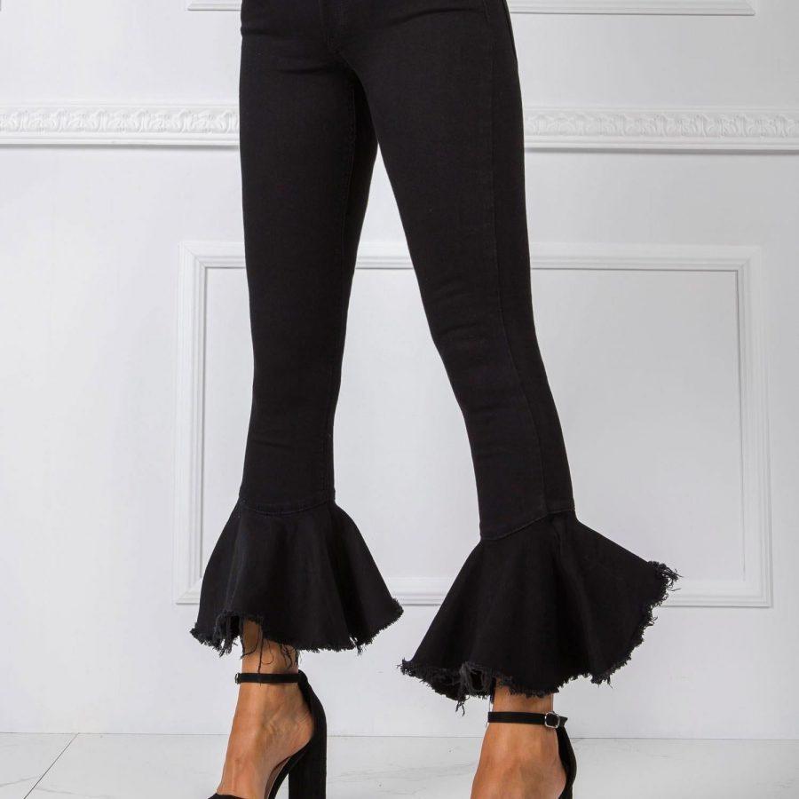 Spodnie jeans-20-SP-PLT5.37-czarny