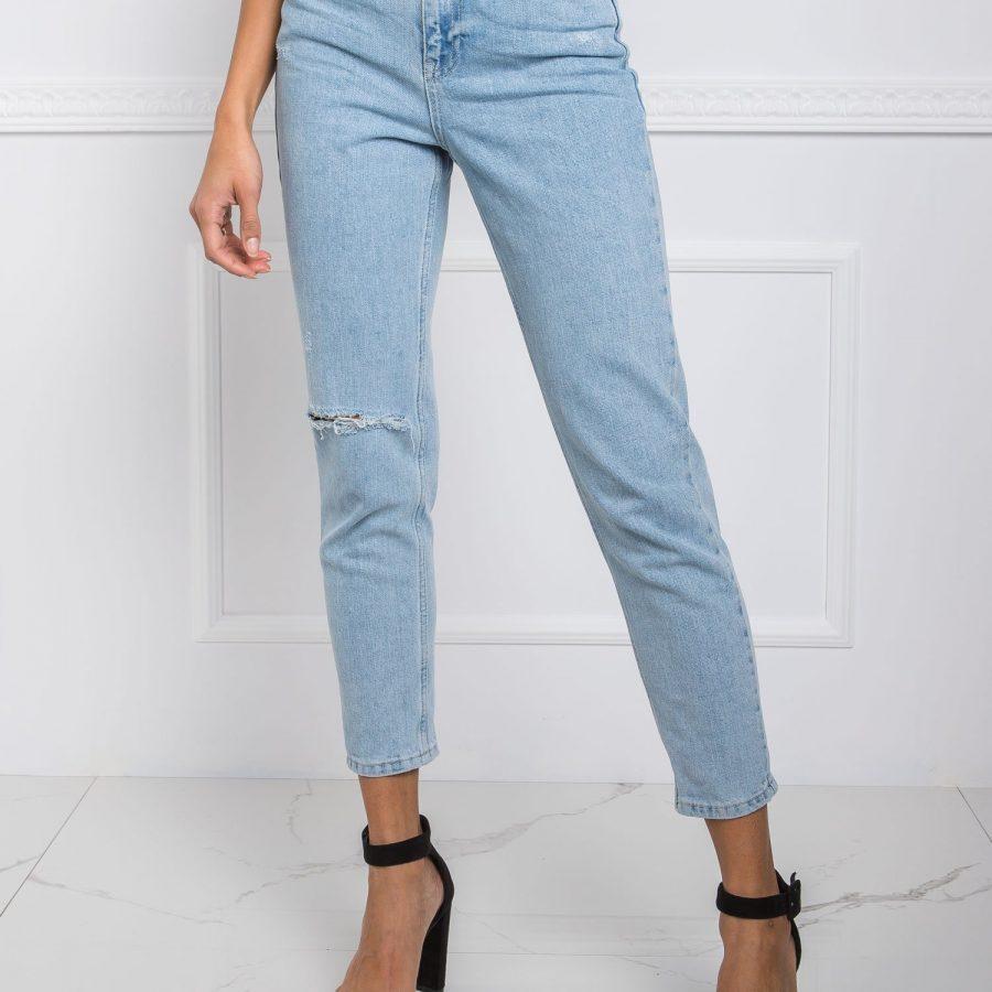 Spodnie jeans-20-SP-YJT8.40-jasny niebieski