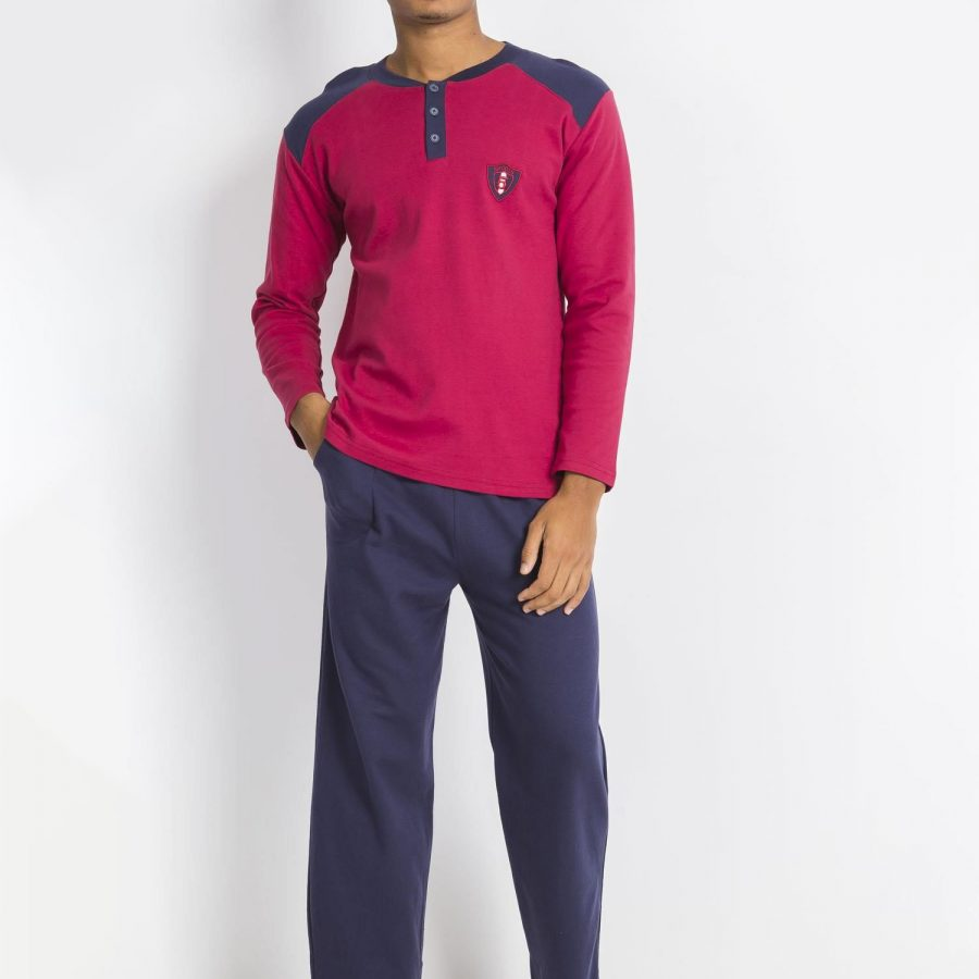 Piżama-BR-PI-1043.10X-bordowy