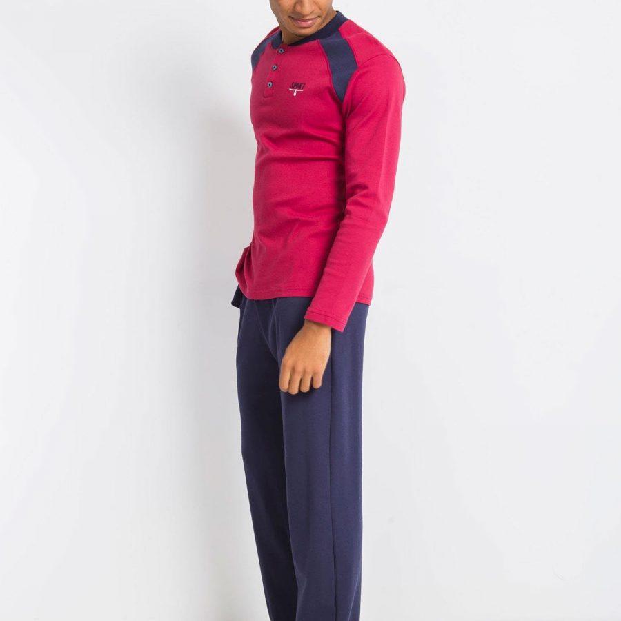 Piżama-BR-PI-1116.05X-bordowy