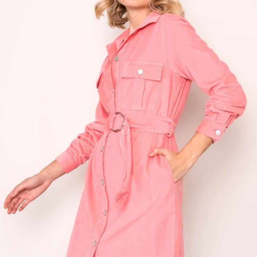 Sukienka-BSL-SK-14422-jasny różowy