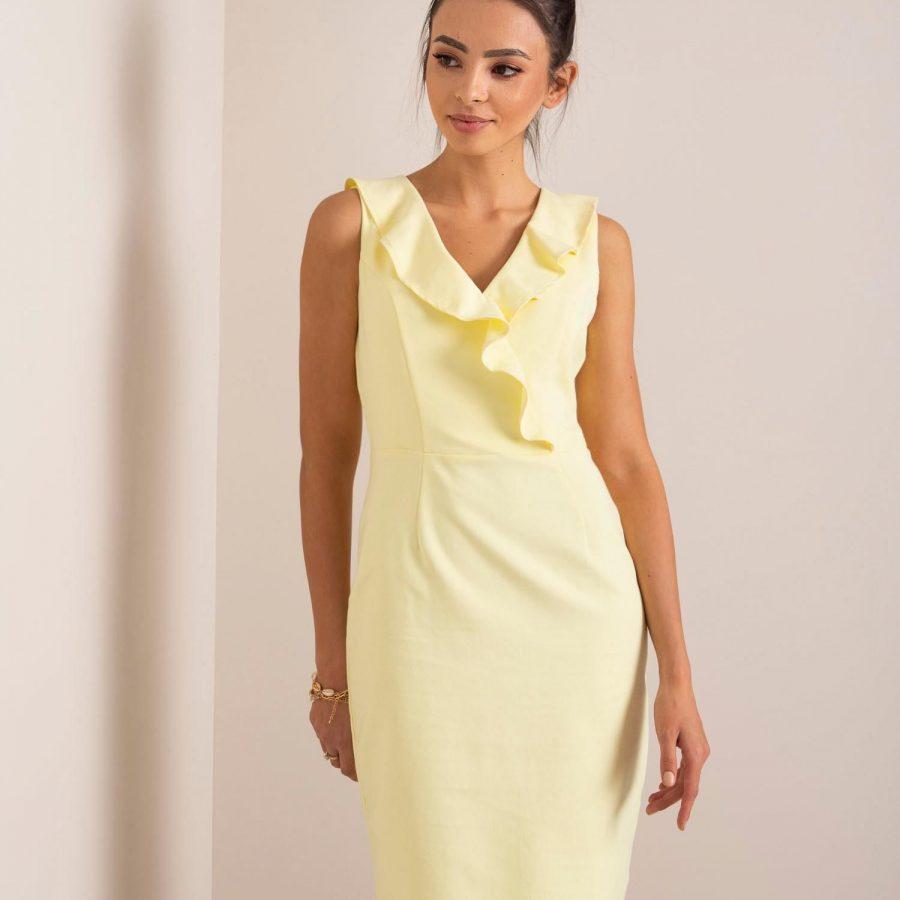 Sukienka-MO-SK-ADL6022.91P-żółty