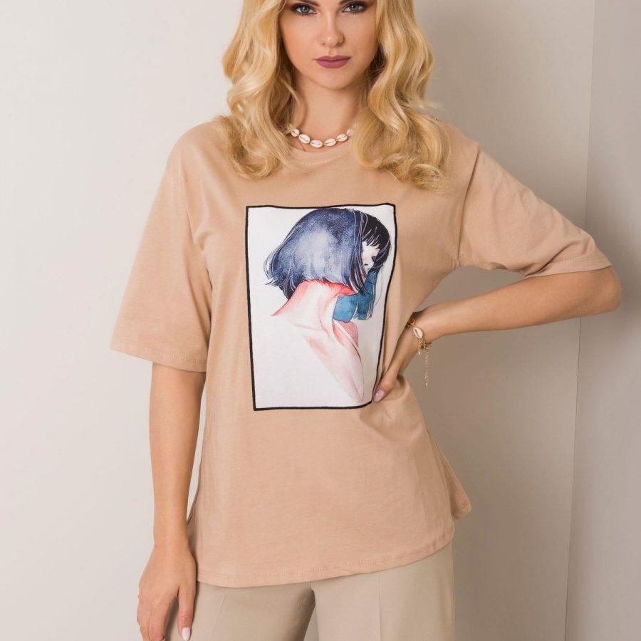 T-shirt-100-TS-3358.75-beżowy