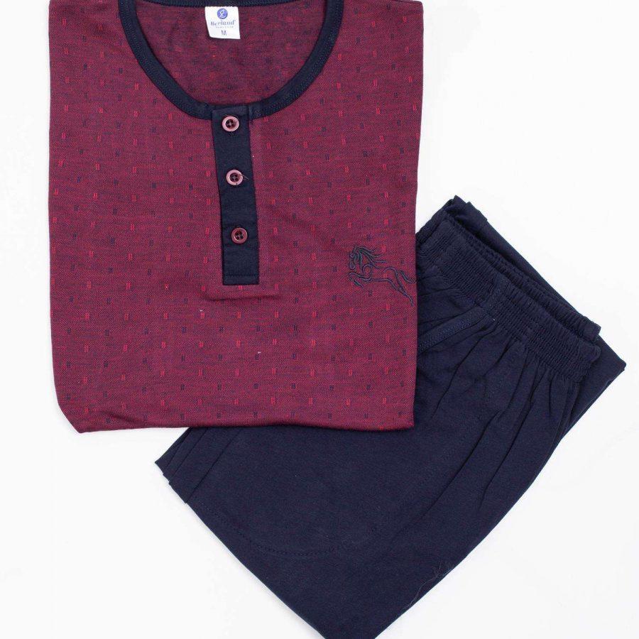 Piżama-BR-PI-3792-bordowy