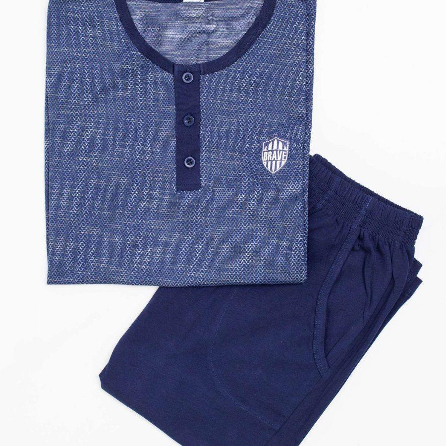 Piżama-BR-PI-3795-ciemny niebieski
