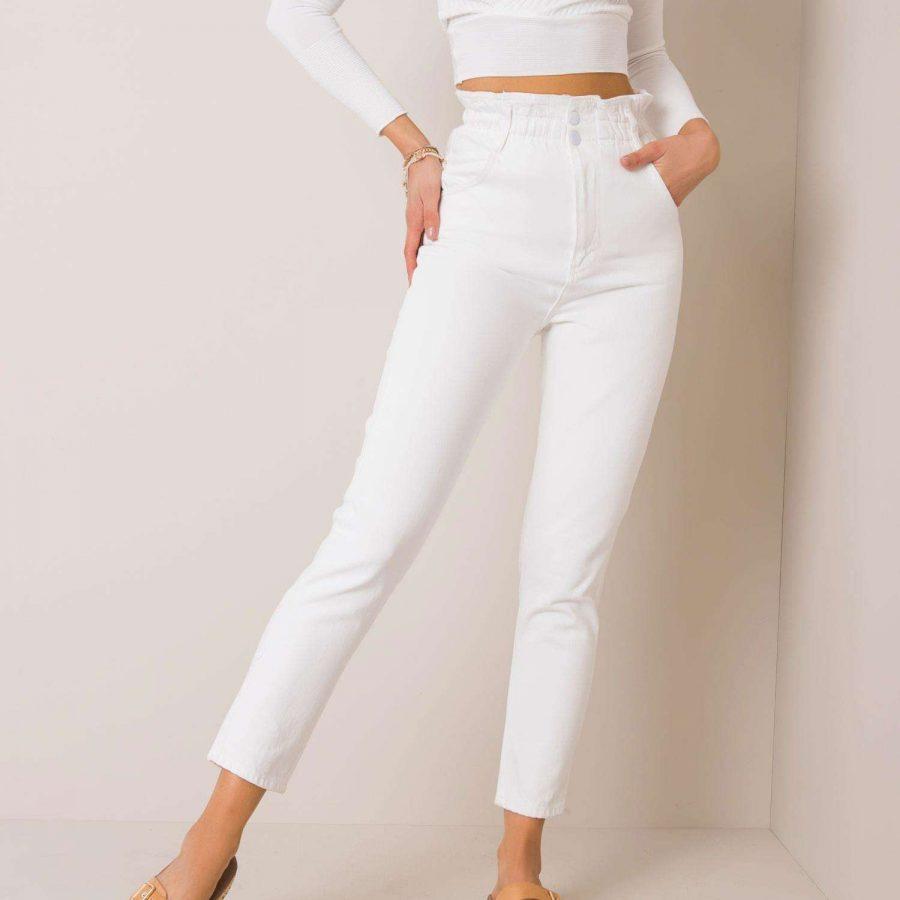 Spodnie jeans-176-SP-AN21.19P-biały