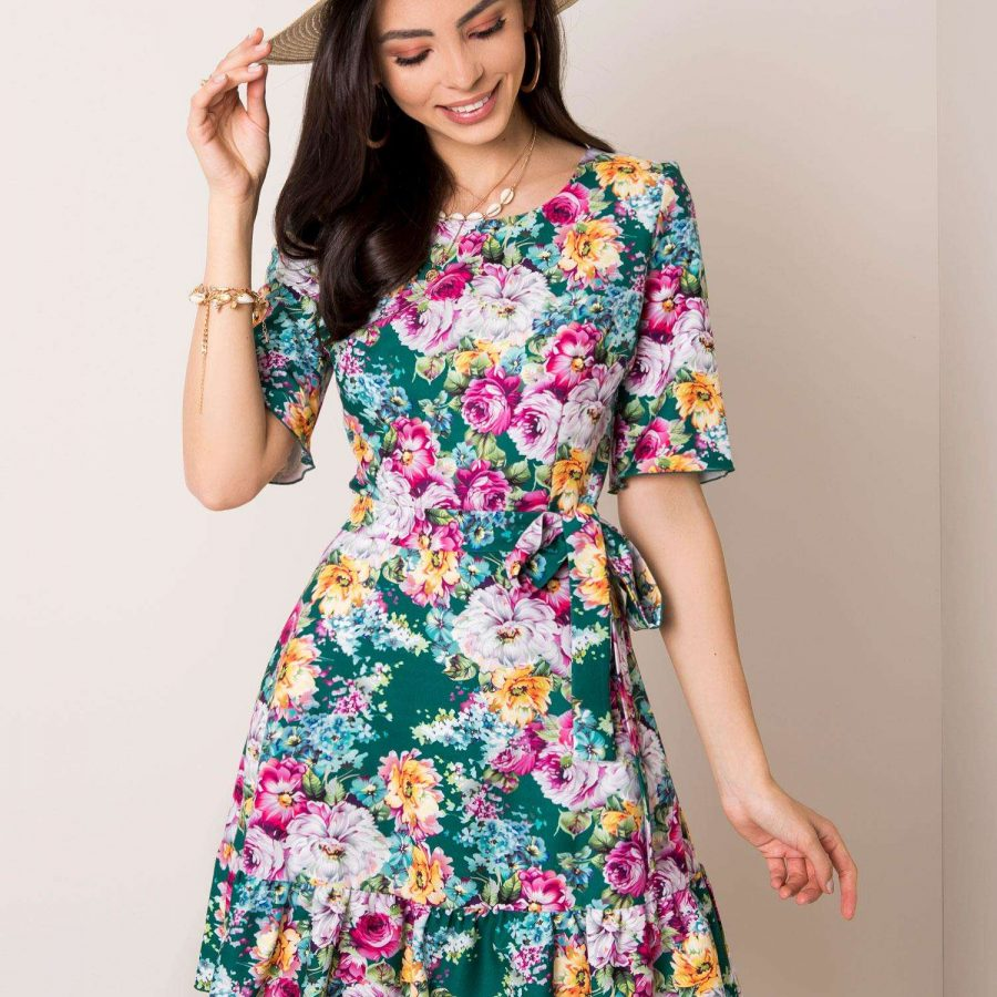 Sukienka-LK-SK-507615.04-ciemny zielony