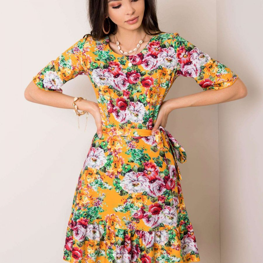 Sukienka-LK-SK-507615.04-pomarańczowy