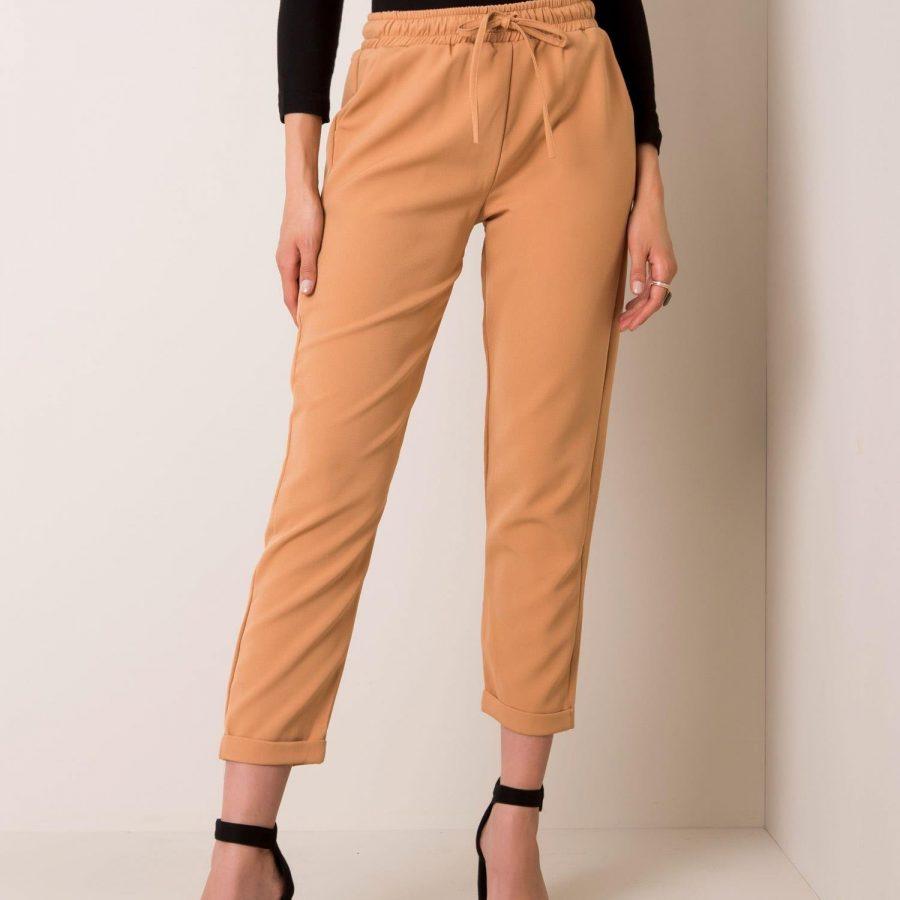 Spodnie-100-SP-3035.43-jasny brązowy