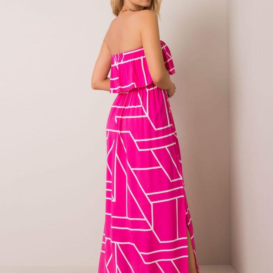 Sukienka-111-SK-74035.61-ciemny różowy