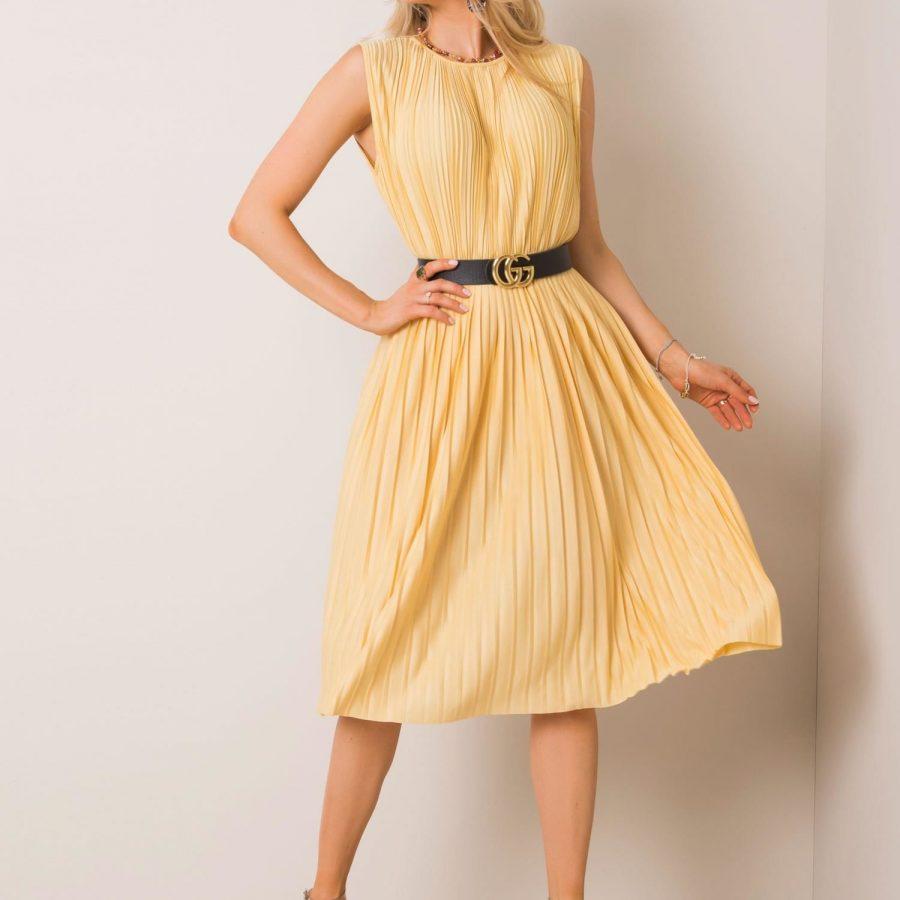 Sukienka-151-SK-6-09.40P-jasny żółty