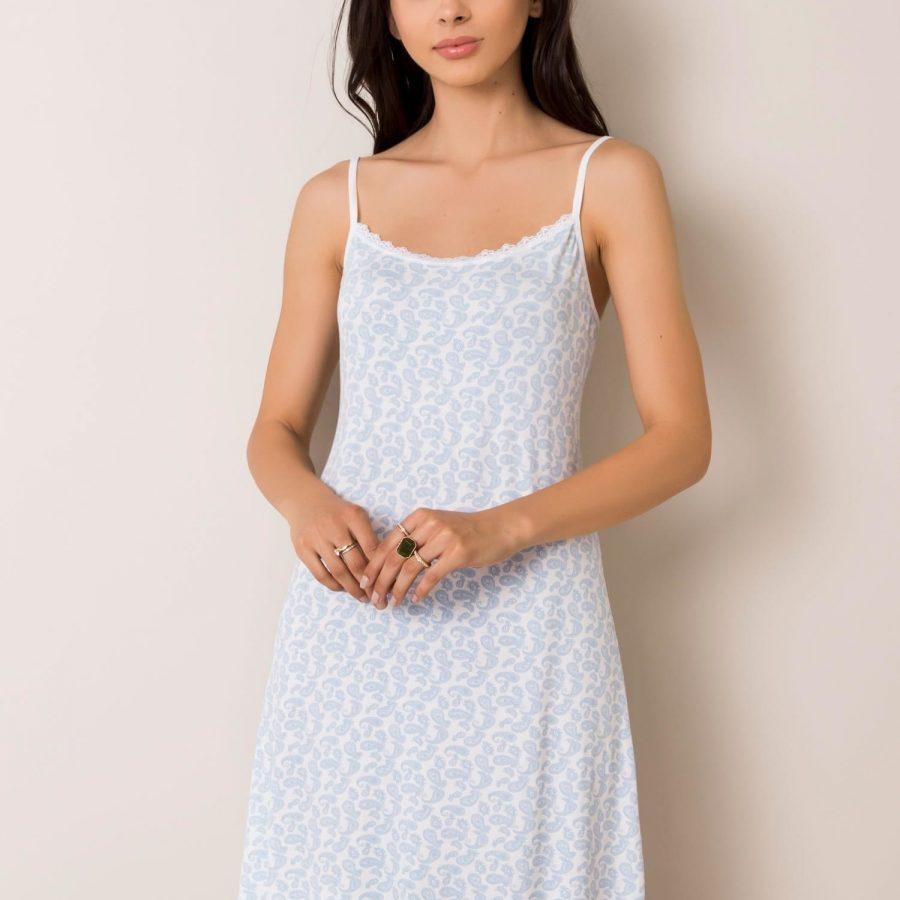 Koszula nocna-BR-KN-1220.39-biało-niebieski