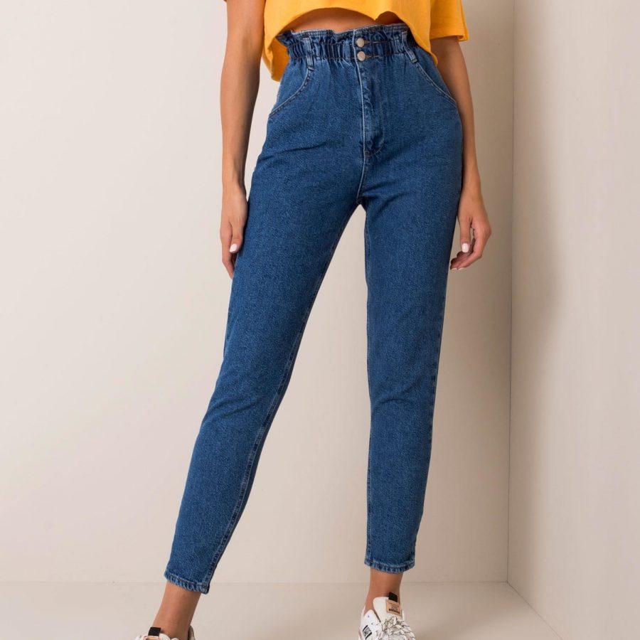 Spodnie jeans-176-SP-AN21.40P-ciemny niebieski