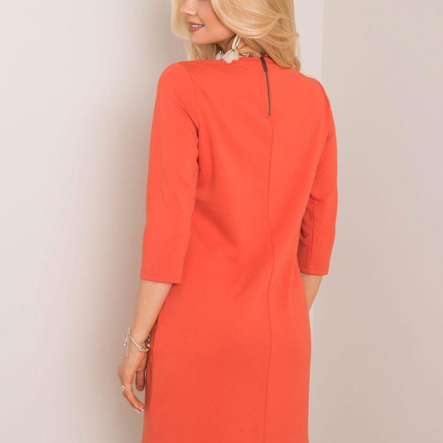 Sukienka-D17008Z30172-ciemny pomarańczowy