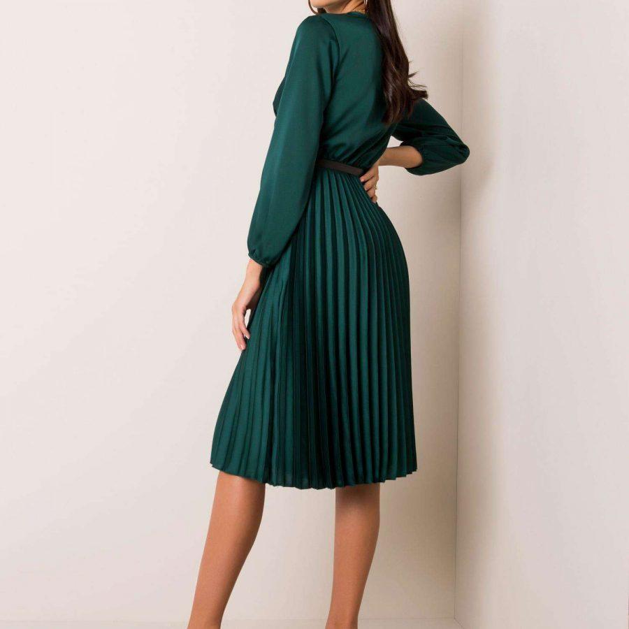 Sukienka-DHJ-SK-10596.51-ciemny zielony