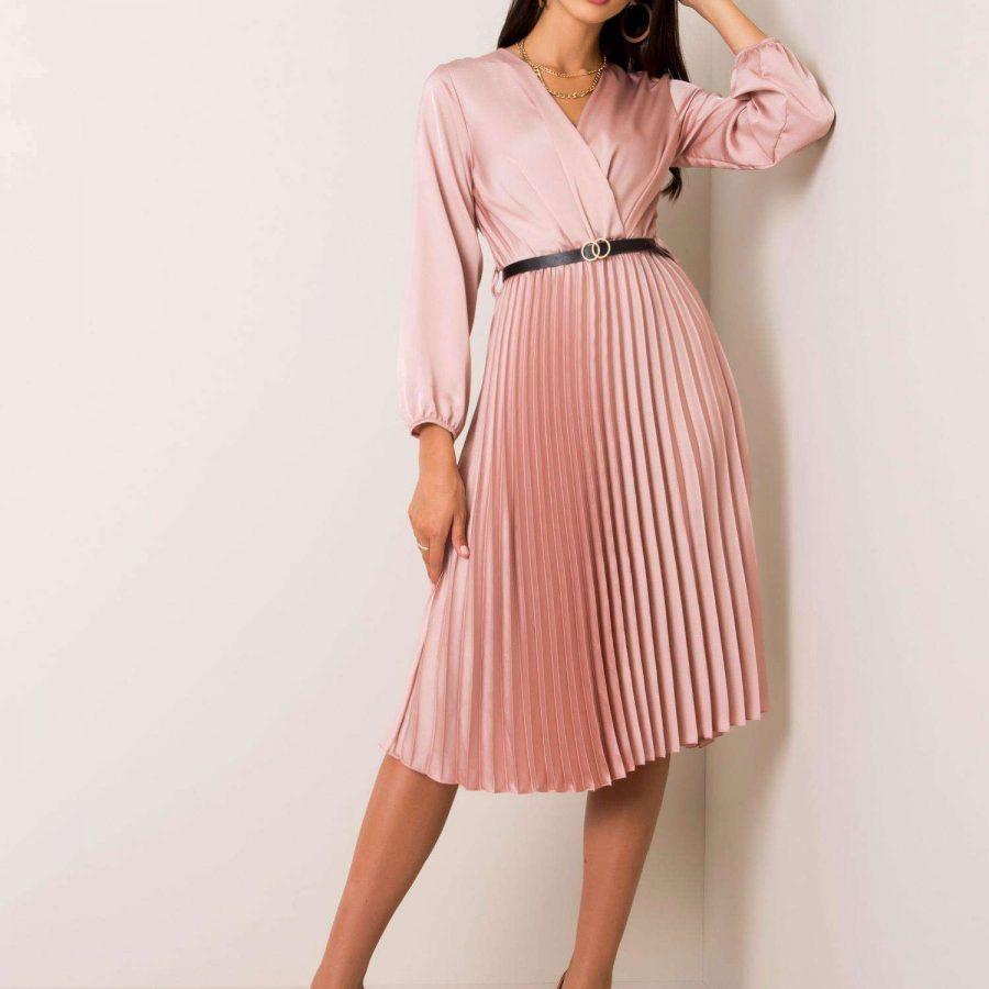 Sukienka-DHJ-SK-10596.51-ciemny różowy