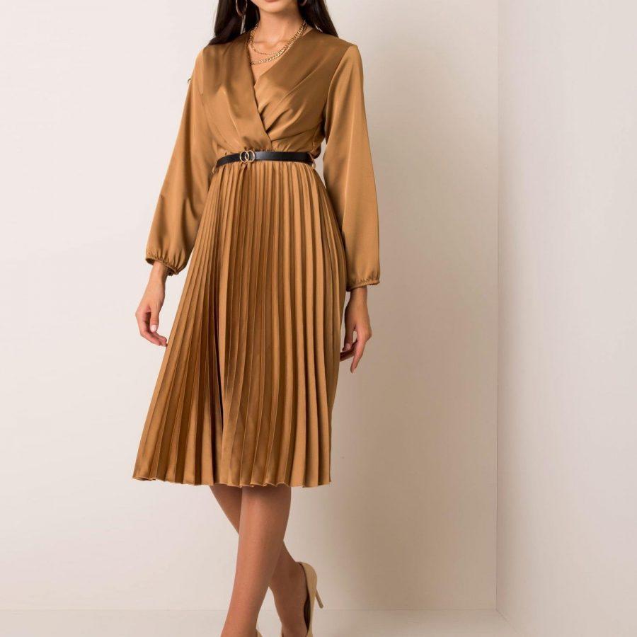 Sukienka-DHJ-SK-10596.51-złoty