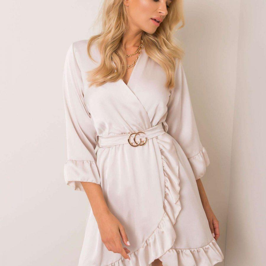 Sukienka-DHJ-SK-12190.81P-beżowy