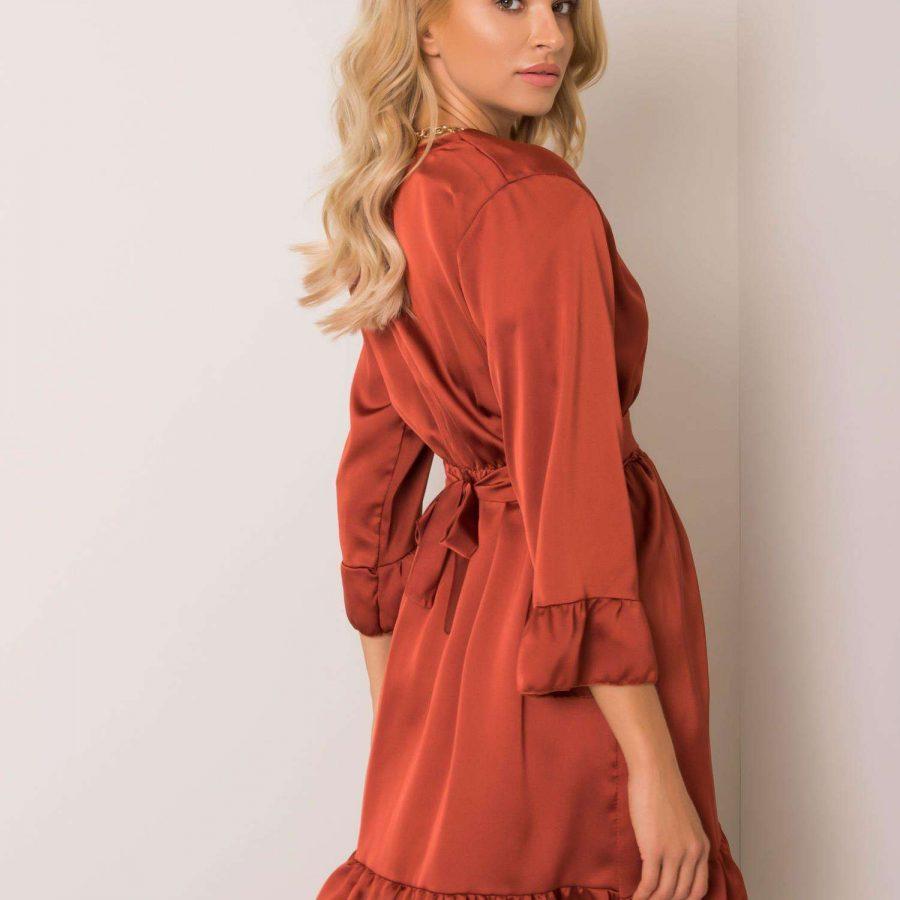 Sukienka-DHJ-SK-12190.81P-ciemny pomarańczowy