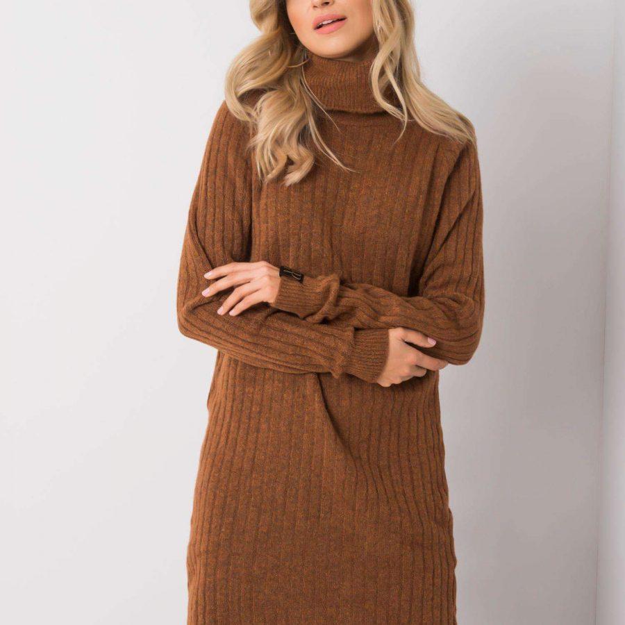 Sukienka-258-SK-4787.31P-brązowy