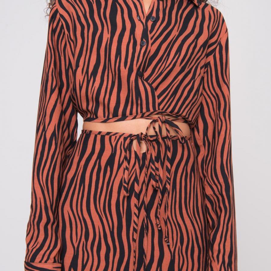 Koszula-15621-brązowy