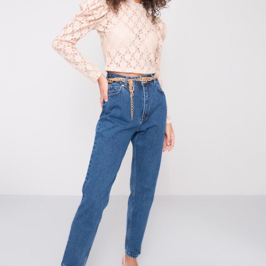 Spodnie jeans-15448-niebieski