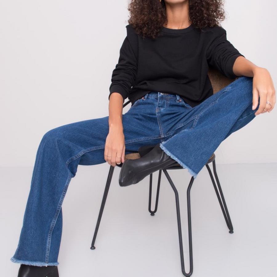 Spodnie jeans-15453-niebieski