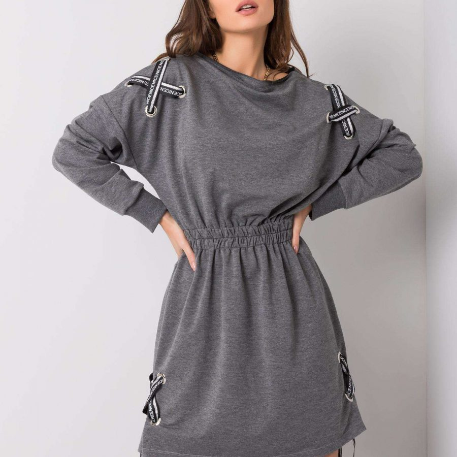 Sukienka-EM-SK-EW20408.04P-ciemny szary