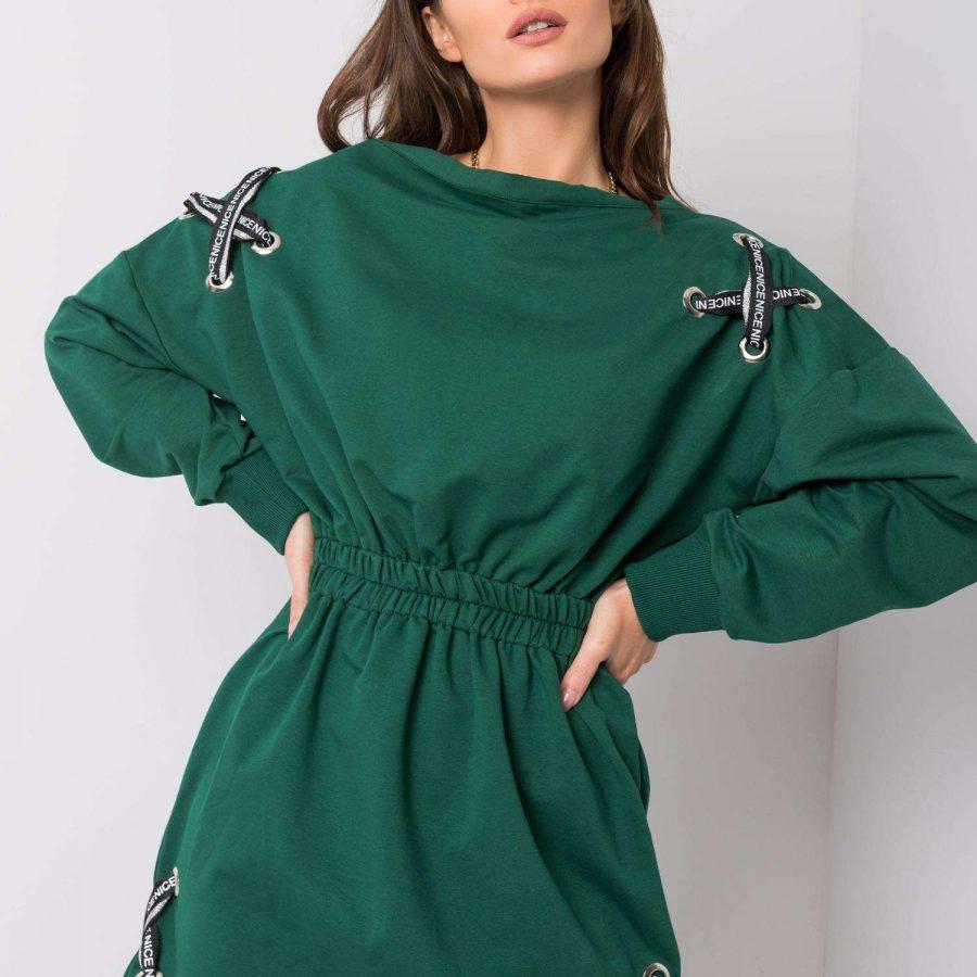 Sukienka-EM-SK-EW20408.04P-ciemny zielony