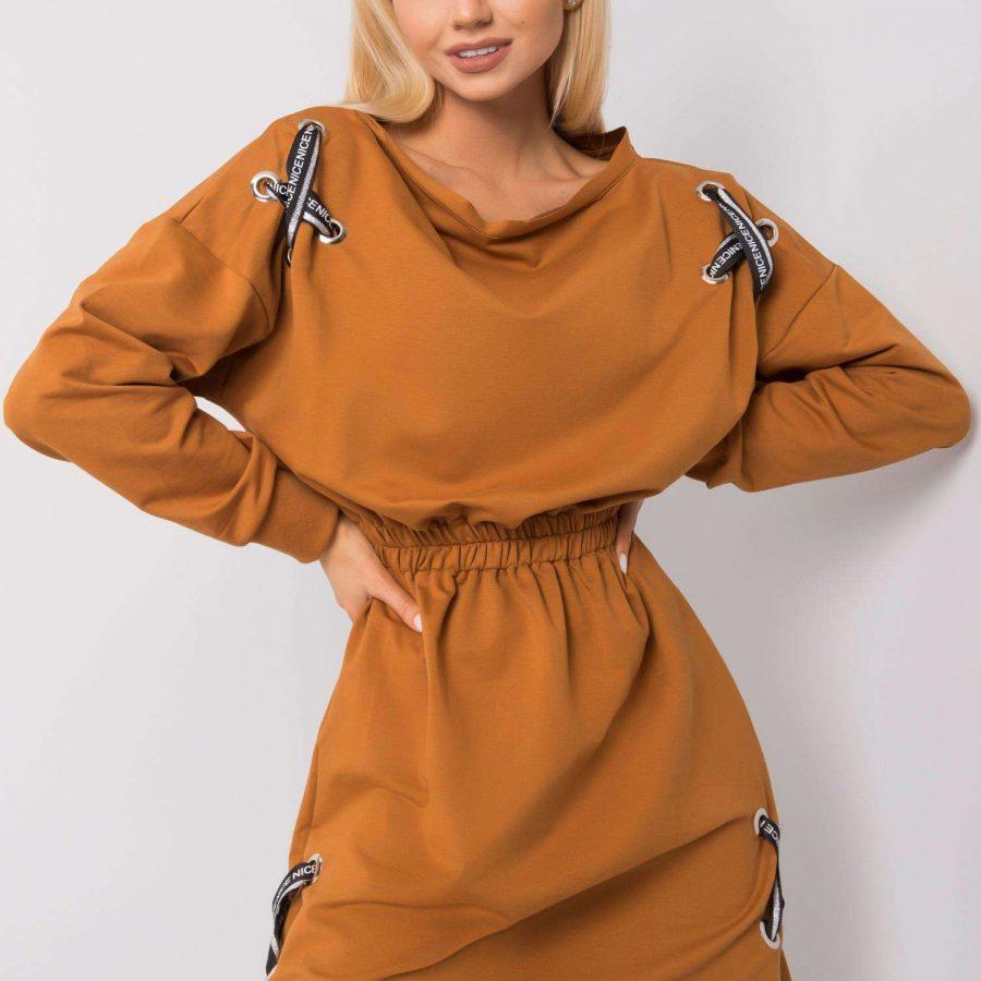 Sukienka-EM-SK-EW20408.04P-jasny brązowy